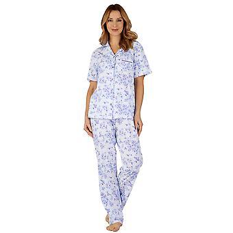 Slenderella PJ3104 女性の綿ジャージー パジャマ パジャマ セット