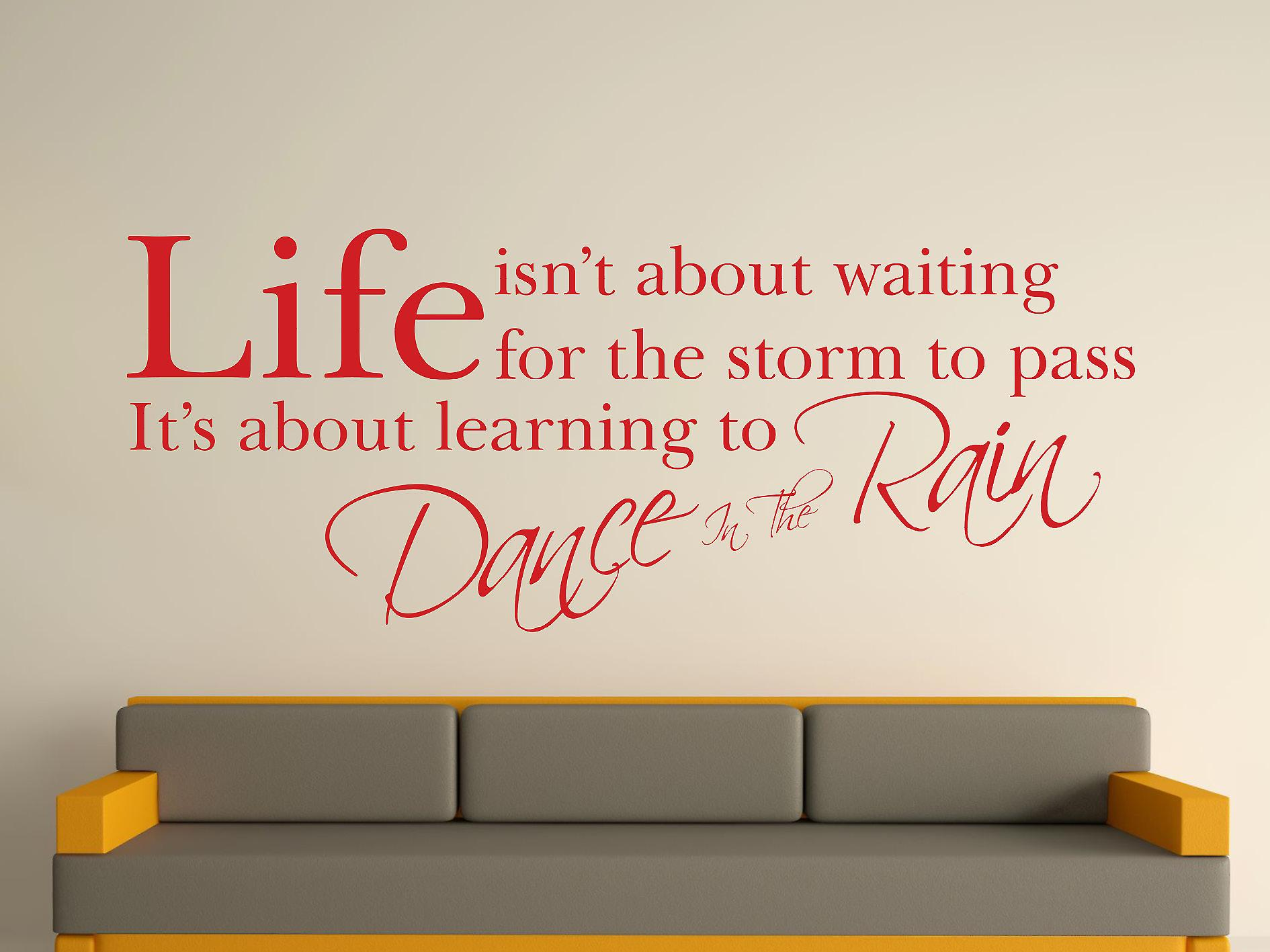 Dance In The Rain Wall Art Sticker - Deep Red