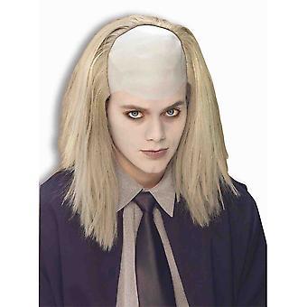 Begrafenisondernemer Undertaker Creepy Horror kale Halloween Mens kostuum pruik