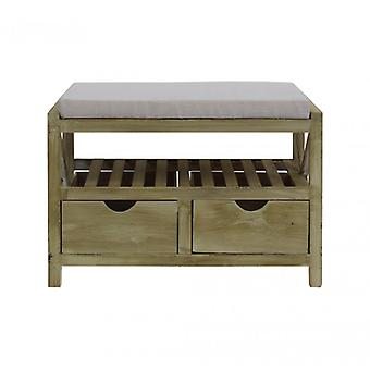 Rebecca Bench Furniture Bench 2 drawers light wood Shabby rustic Country entrance Hall