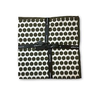 Olymp Pocket Square in brown dot pattern