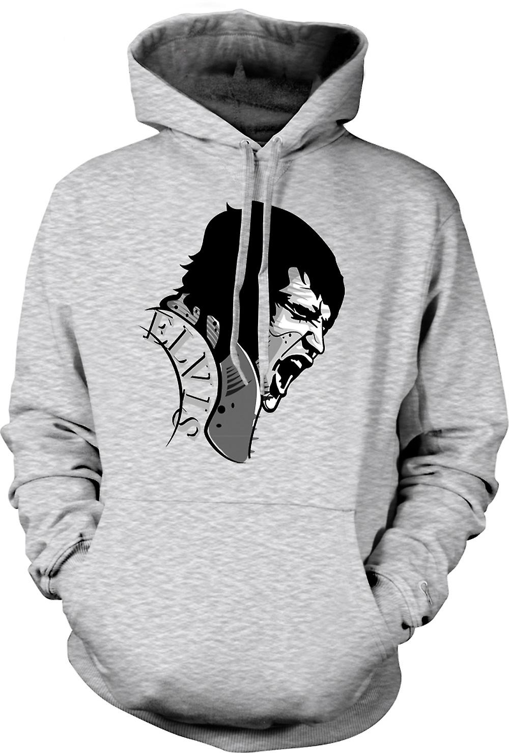 Mens Hoodie - Elvis Presley Singing - Cool