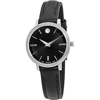 Movado Ultra Slim Leather Ladies Watch 0607094