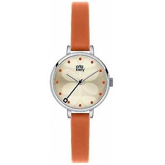 Orla Kiely Ivy Orange Leather Strap OK2013 Watch