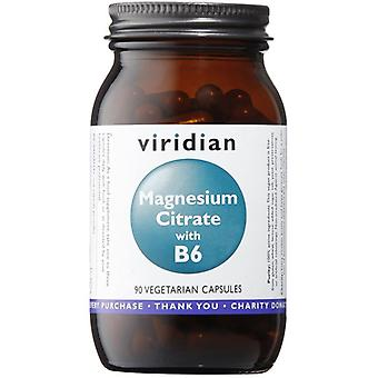 Viridian Magnesium Citrate with B6 Veg Caps 90 (332)