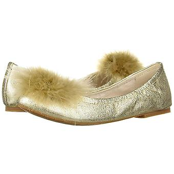 Kenneth Cole New York Women's Priscella Ballet Flat with Feather Pom
