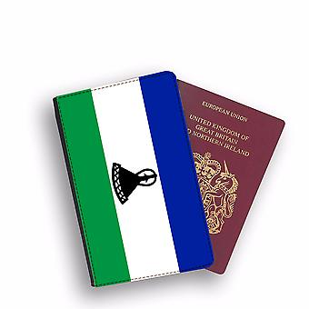 LESOTHO Flag Passport Holder Style Case Cover Protective Wallet Flags design