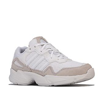 Children Boys adidas Originals Yung-96 Trainers In White- - Breathable Mesh