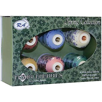 Thimbleberries Cotton Thread Collections 500 Yards 6 Pkg Spring Ggq 1003