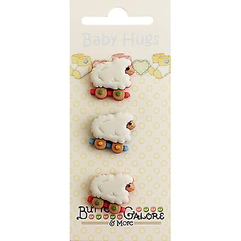 Baby Hugs Buttons-Sheep BH-122