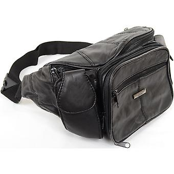 Extra Large Unisex Soft Nappa Leather Bum Bag / Waist Bag with Multiple Pockets