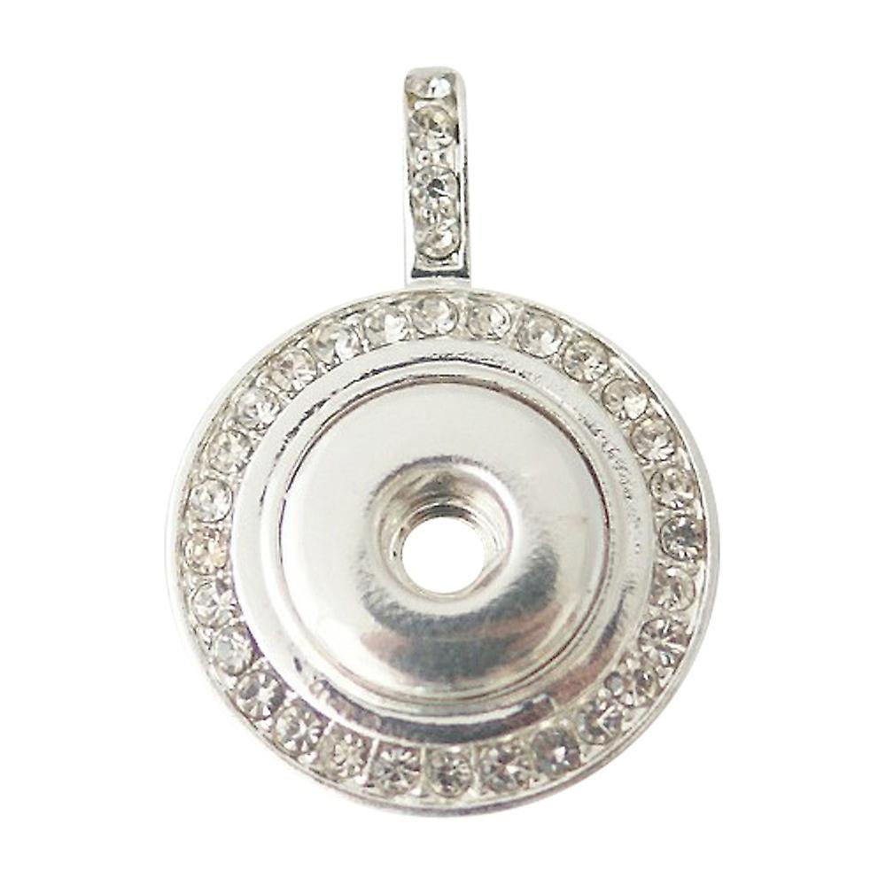 Silver plated pendant for mini click buttons KB0442-S