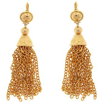 Kenneth Jay Lane Gold  Tassel Drop Earrings