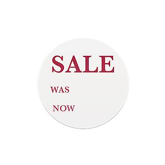 Self Adhesive Round Sticker - 'Sale Was Now' - Box of 500