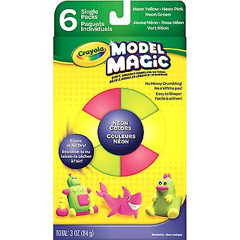 Crayola Model Magic .5oz 6/Pkg-Neon 57-4512