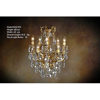 chandelier glass strass lamp brass baroque  antique chandelier strass glass AgEag0674
