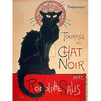 Le Chat Noir Poster Print by Theophile Steinlen (30 x 40)