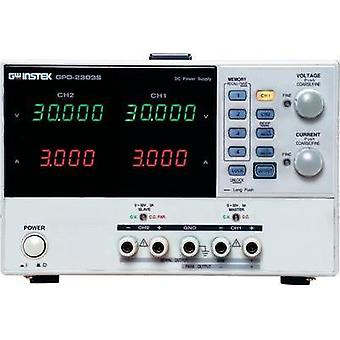 Bench PSU (adjustable voltage) GW Instek GPD-2303S 0 - 30 Vdc 0 - 3 A 180 W USB remote controlled No. of outputs 2 x