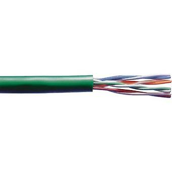 Network cable CAT 5e U/UTP 4 x 2 x 0.20 mm² Green