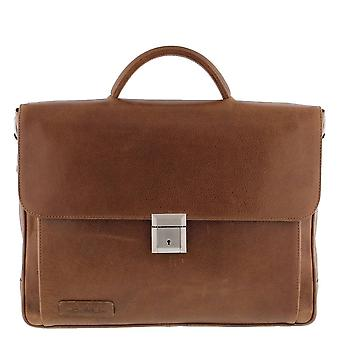 Piviere Business/laptop bag pieno fiore crunch in pelle