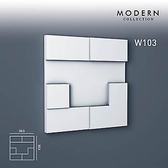 3D wall panel ORAC decor W103 white MODERN CUBI Zierlement modern design