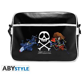 Abysse Captain Harlock Messenger Bag Emblem & Ship Vinyle