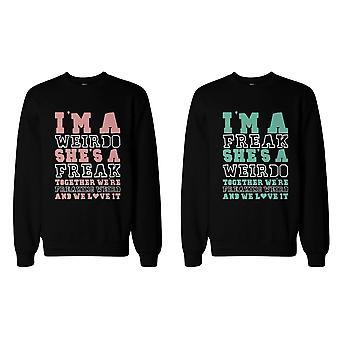 Freak y Weirdo que BFF sudaderas lindo suéter para mejores amigos