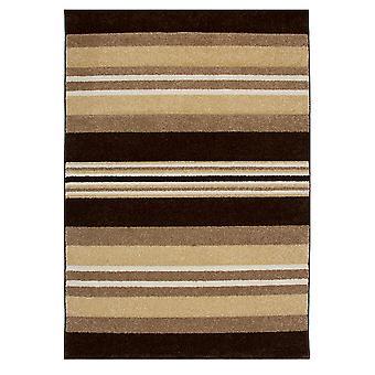Brown & fløde stribe moderne tæppe Havana