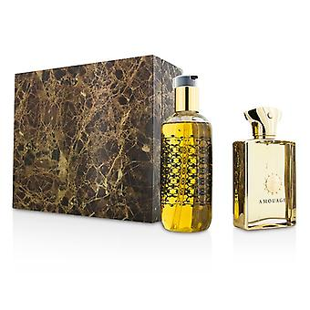 Amouage guld Coffret: Eau De Parfum Spray 100ml / 3,4 oz + bad & dusch Gel 300 ml/10 oz 2st