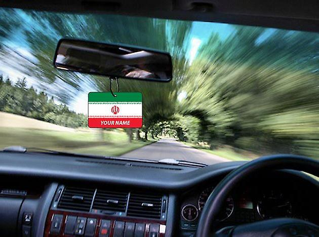 Iran Flag Personalised Car Air Freshener