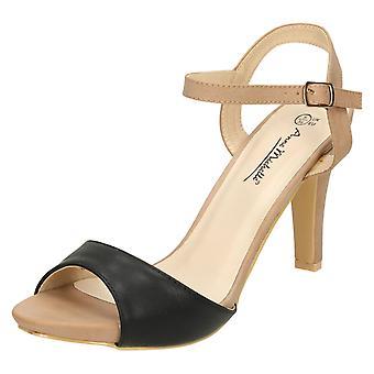 Kära Anne Michelle Peep Toe Högklackade Sandaler