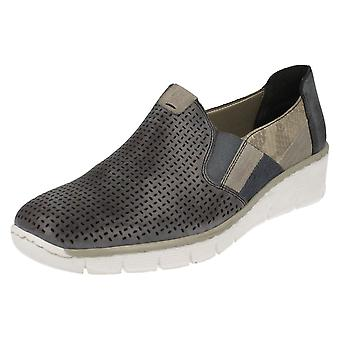 Ladies Rieker Antistress Slip On Casual Shoes 53757