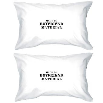 Boyfriend Material 100 Cotton Pillow Case Cute Gift Idea For Couple