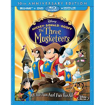 Mickey Donald Goofy: Drei Musketiere 10. Anniv [BLU-RAY] USA Import