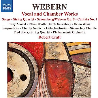 Webern / Arnold / Philharmonia Orchestra / Craft - Vocal & Chamber Works [CD] USA import
