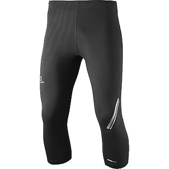Salomon män kör shorts agile 3-4 tight svart - 371188
