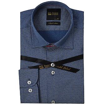 6th Sense Blue Dotted Print Mens Shirt