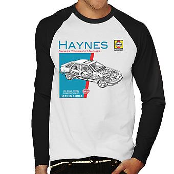 Haynes Besitzer Workshop Manual 0904 Ford Sierra V6 4 X 4 Herren Baseball T-Shirt Langarm