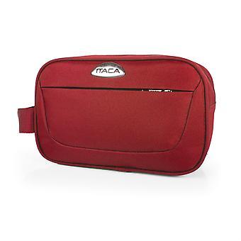 I52826 rejse taske, toilet taske, polyester Eva. Lukning og front lomme med lynlås. Håndtere side og indvendig lomme med mesh. Unisex