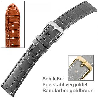 Watch strap Brown watch strap Brown for U. bracelet of ladies watch 18 mm