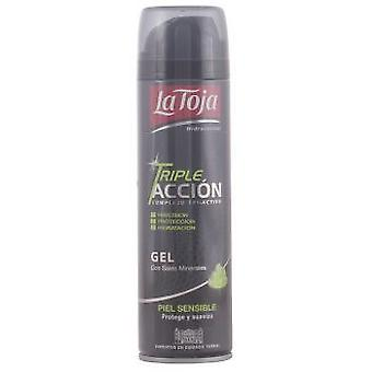 La Toja Triple Action barbering Gel følsomme hud 200 ml