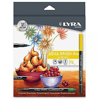 Lyra Aqua børste Duo 12 Pack