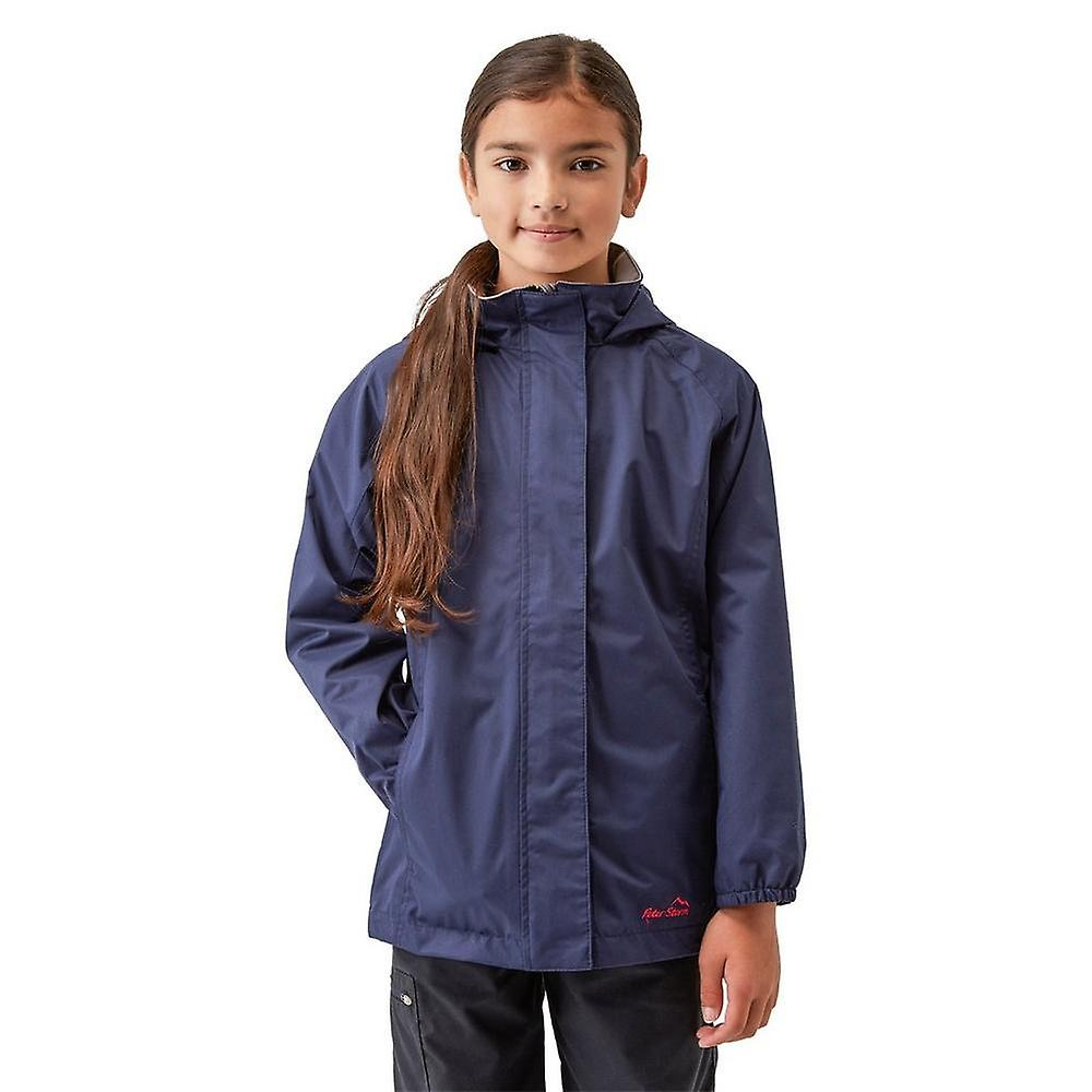 Navy Peter Storm Girls' Wendy II Waterproof Jacket
