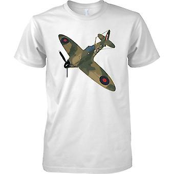 Spitfire Green CamoFlage Colour - WW2 Fighter Aircraft - Mens T Shirt