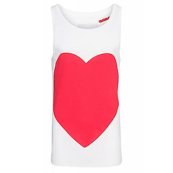 SOMeWEaR Singlet heart shirt men's tank top White with front print