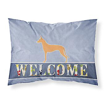 Pharaoh Hound Welcome Fabric Standard Pillowcase
