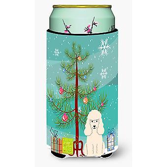 Веселая Рождественская елка пуделя белого мальчика Талль напитков изолятор Hugger
