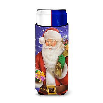 Navidad Santa Claus listo para trabajo Ultra bebidas aisladores para latas de slim