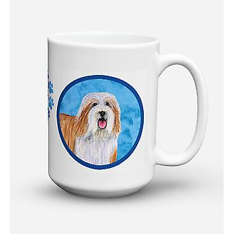 Bearded Collie  Dishwasher Safe Microwavable Ceramic Coffee Mug 15 ounce