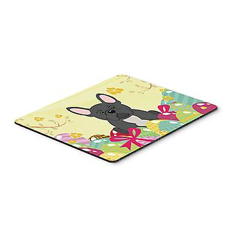 Easter Eggs French Bulldog Black Mouse Pad, Hot Pad or Trivet